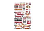 9950 Official Team Traxxas® racing decal set (flag logo/ 6-color)