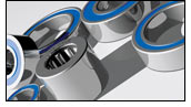 Rubber-Sealed Ball Bearings