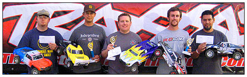 Spec-class winners (left to right): Nick Swelling (fourth), Jake McGarvey (second), Gregg Hodapp (winner), Aaron Waldron (third) and Jaime Valerio (fifth).