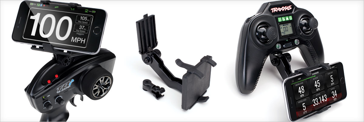 Traxxas RC Transmitter Phone Mount for TQi and Aton Transmitters