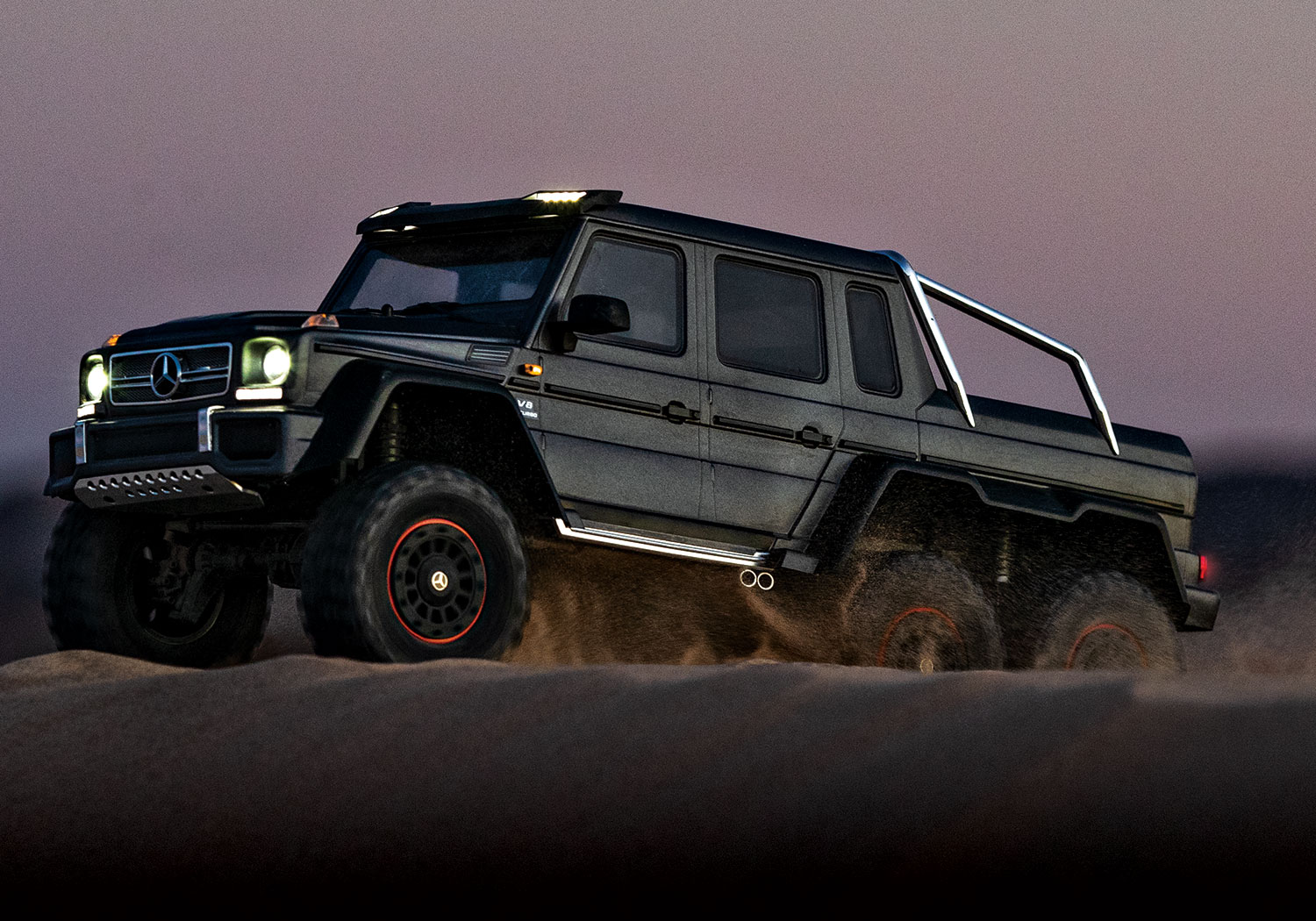 Traxxas TRX-4 with Mercedes-Benz G 63 AMG 6x6 Black