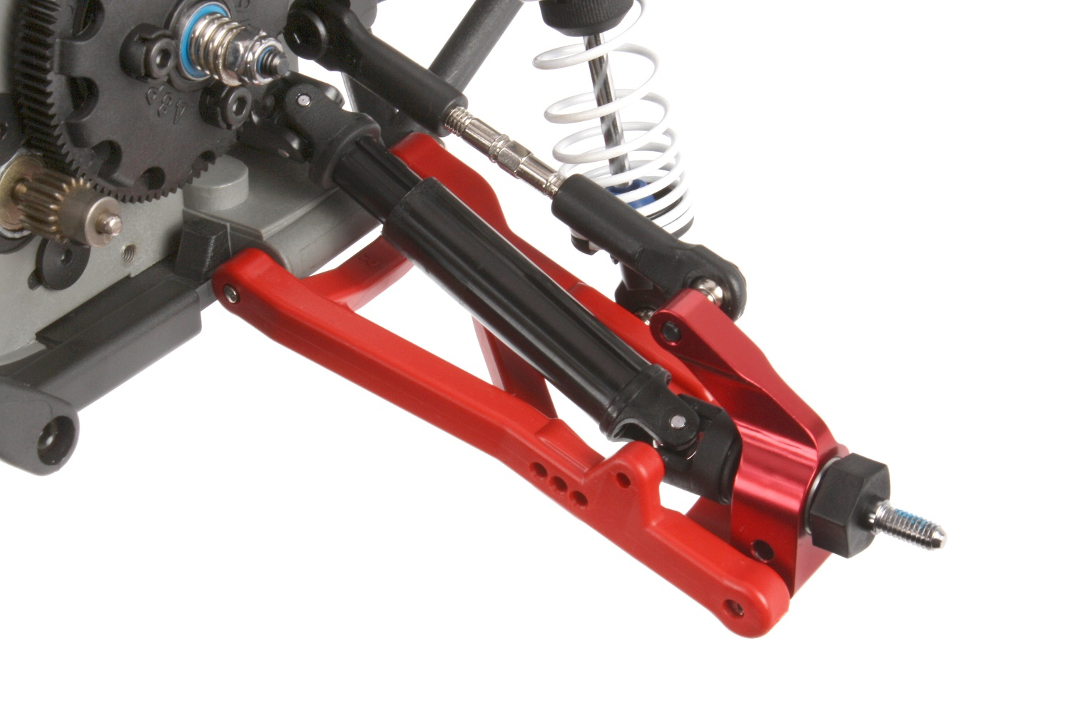 Red aluminum axle carriers