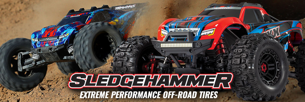 Sledgehammer tires for Rustler 4x4 and Maxx