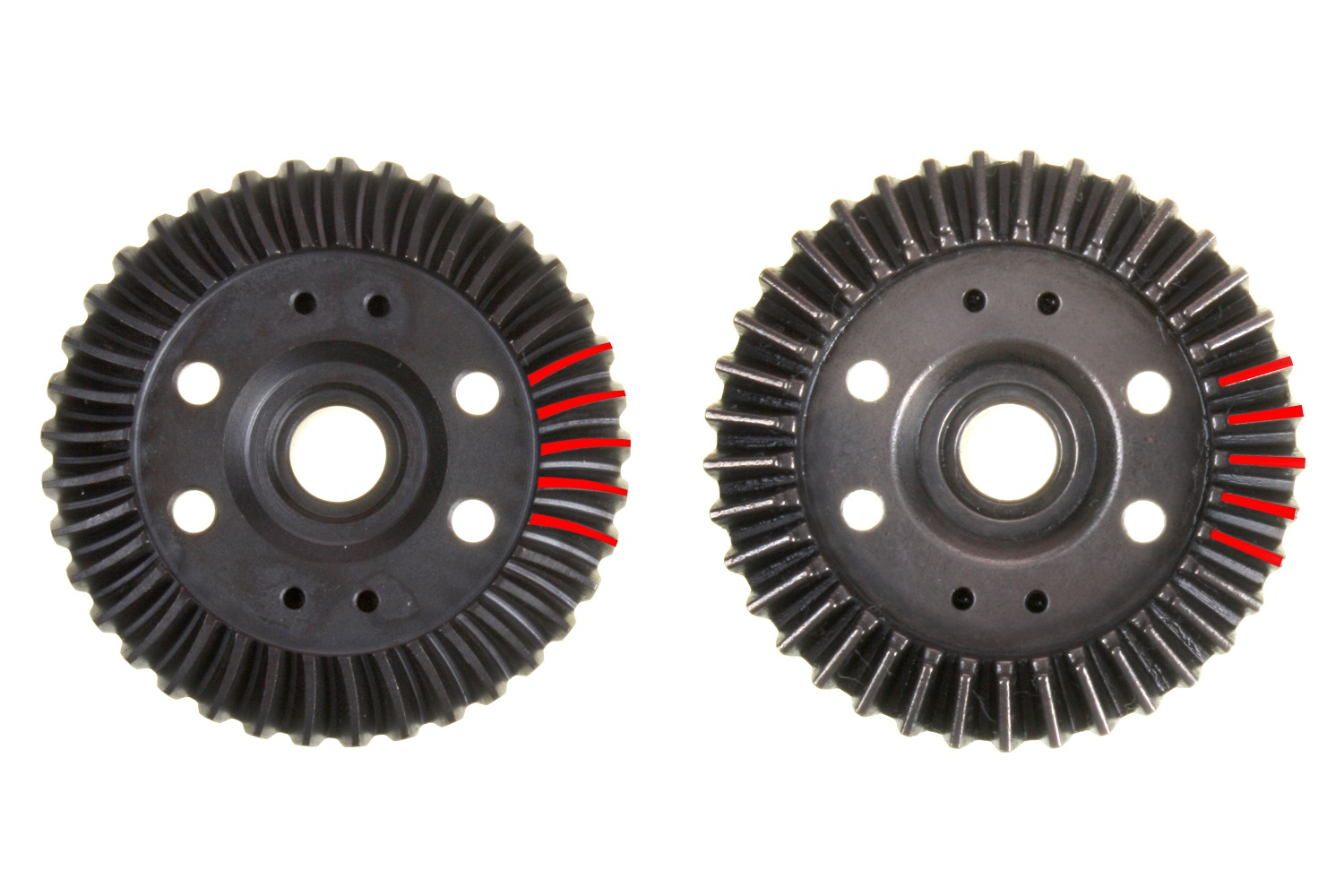 Spiral-cut gears provide a larger contact patch