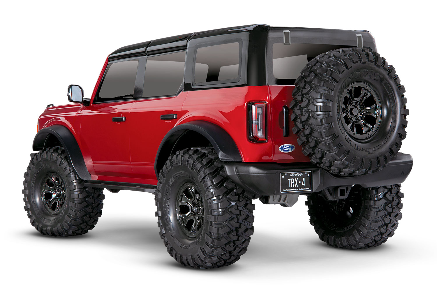 Red TRX-4 2021 Ford Bronco rear view