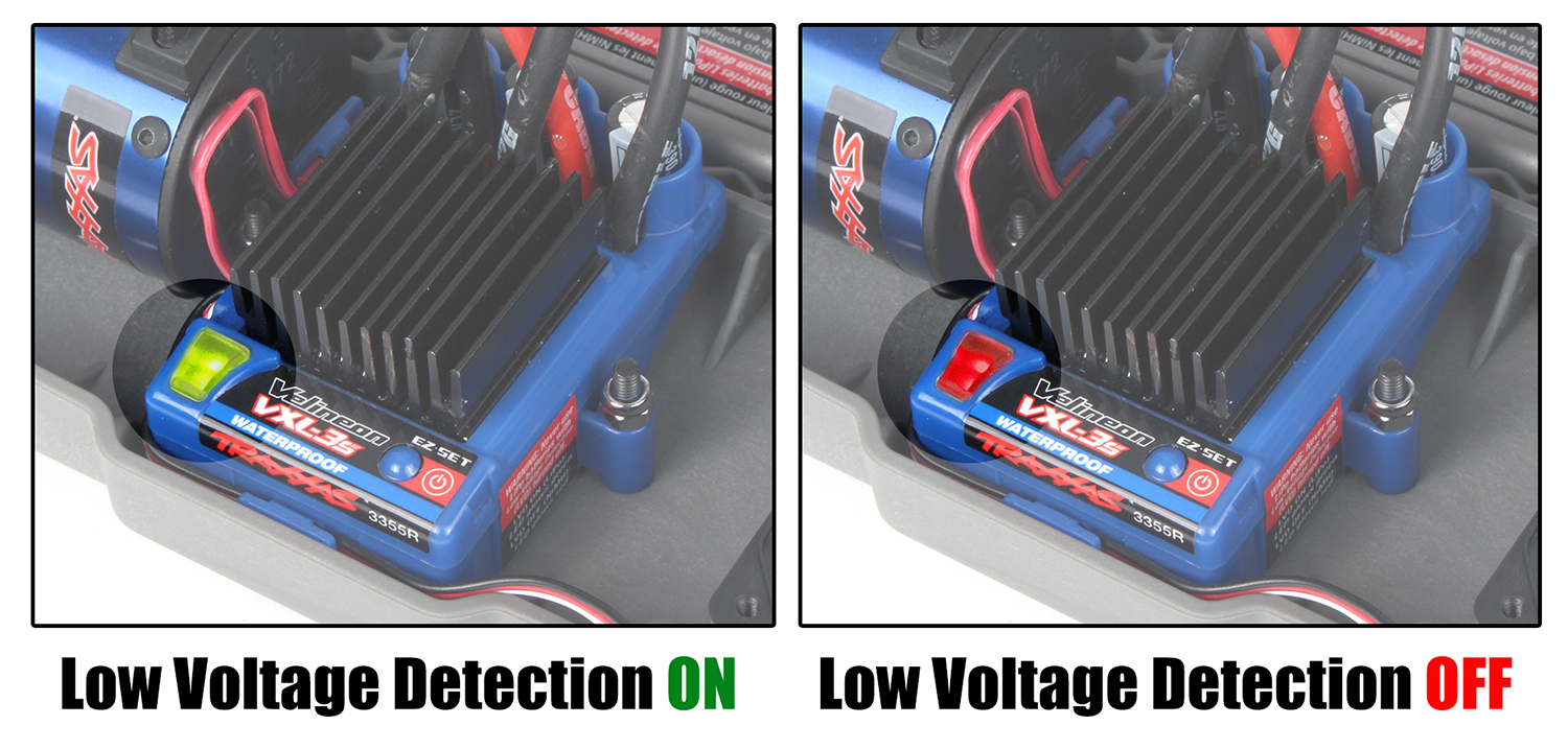 Low-voltage detection settings