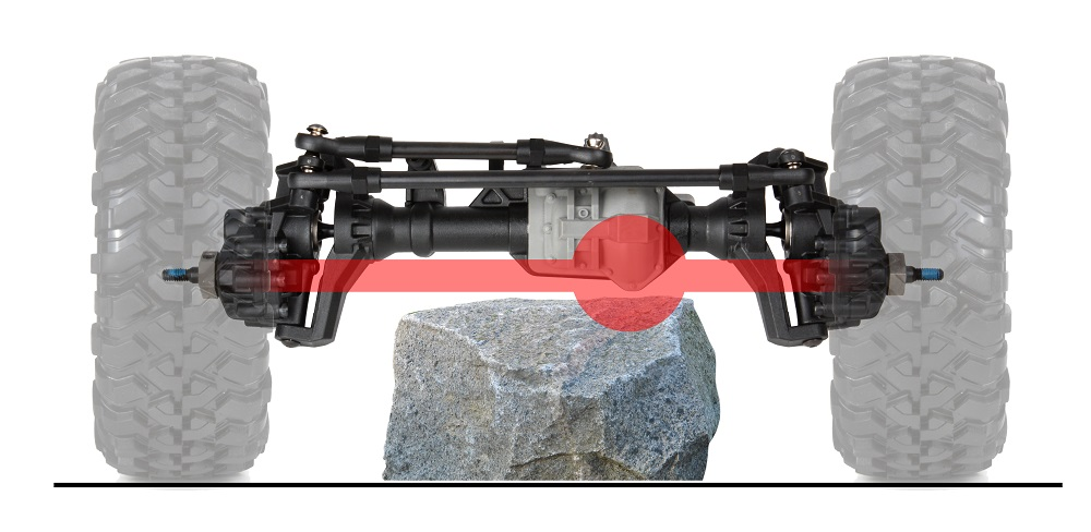 Clearance without portal axles