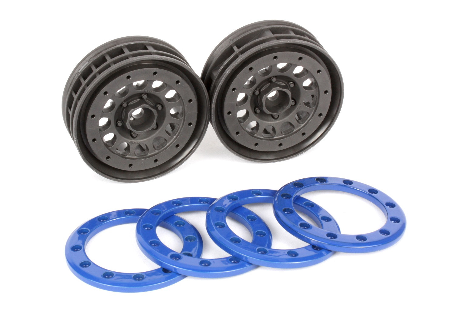 Method 105 wheels with blue beadlock rings