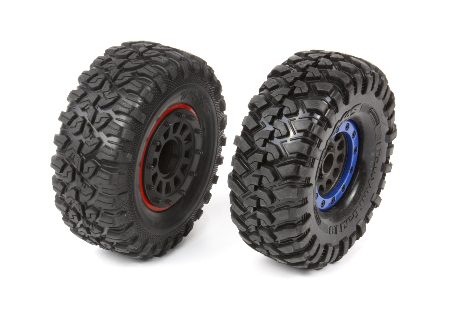Stock tire (left) Canyon Trail (right)